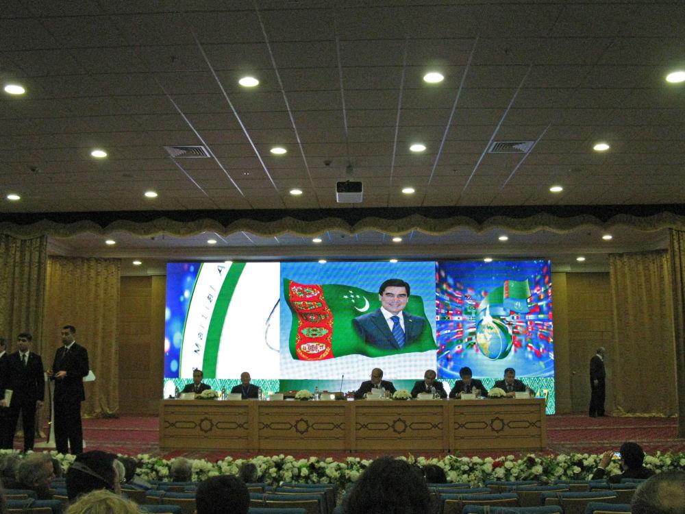 Ashgabat, un momento della conferenza Asiada 2017