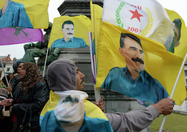Dimostranti curdi