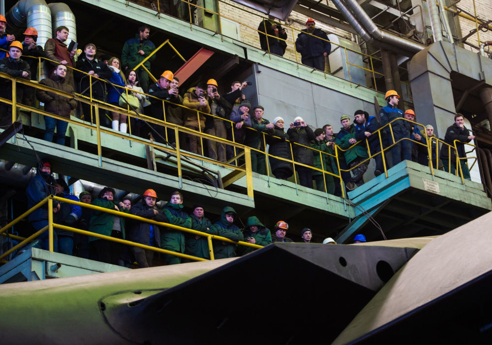 Il varo del sottomarino Velikij Novgorod