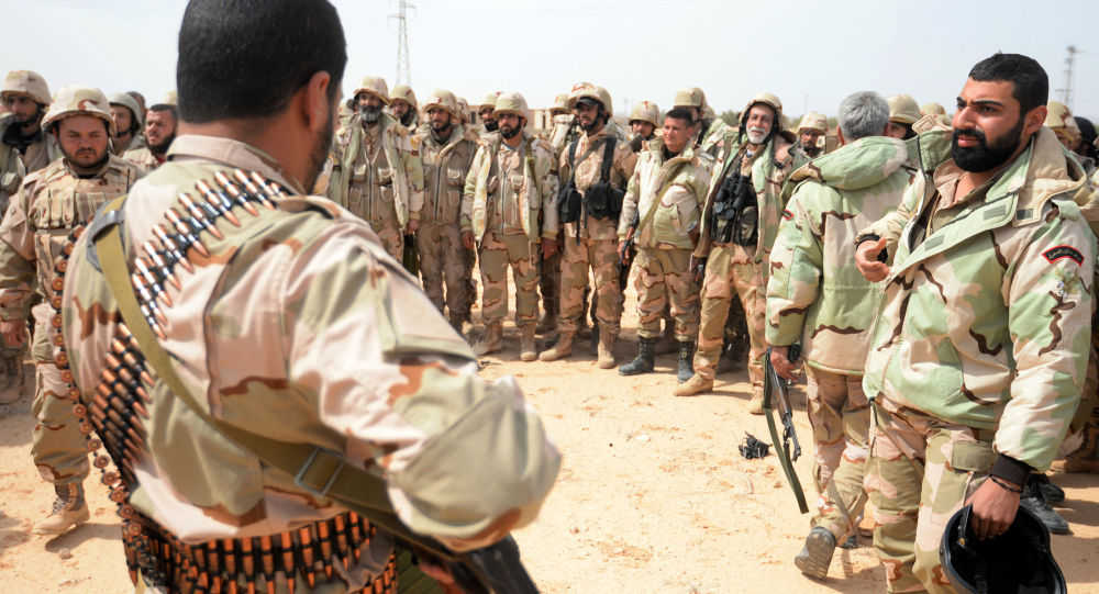 Forze speciali siriane nei pressi di Palmira