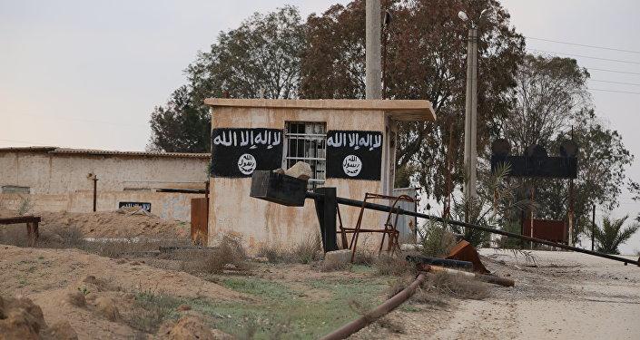 Uno degli edifici del Daesh