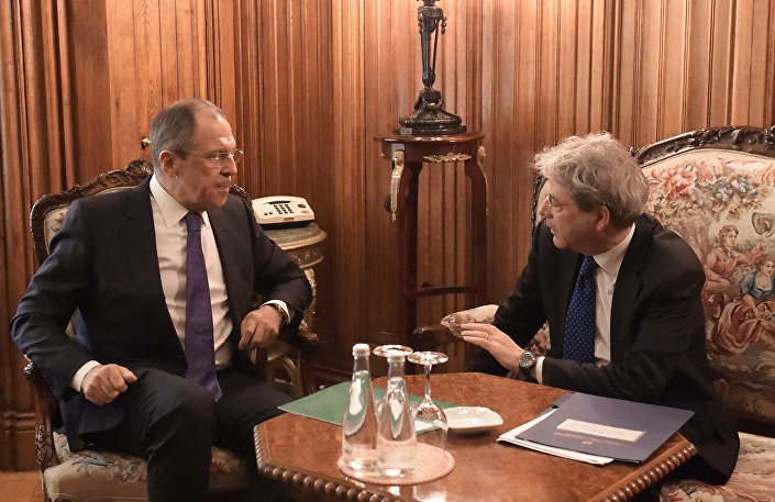 Paolo Gentiloni e Sergey Lavrov s'incontrano a Mosca