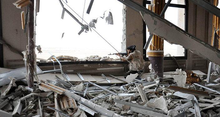 .Il palazzo di Mamluk-era a Palmyra danneggiato dagli estremisti