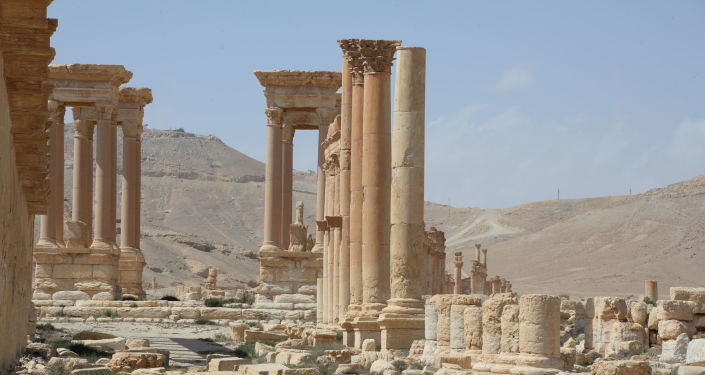 Parte storica di Palmira dopo la liberazione dal Daesh