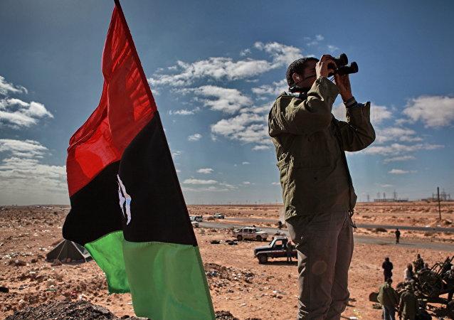 Un militante libico