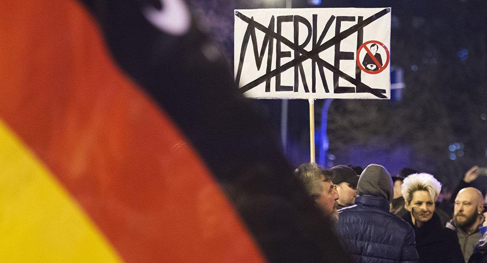 Manifestazione contro i migranti in Germania