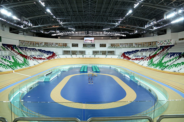 Il velodromo, fiore all'occhiello del complesso olimpico di Ashgabat