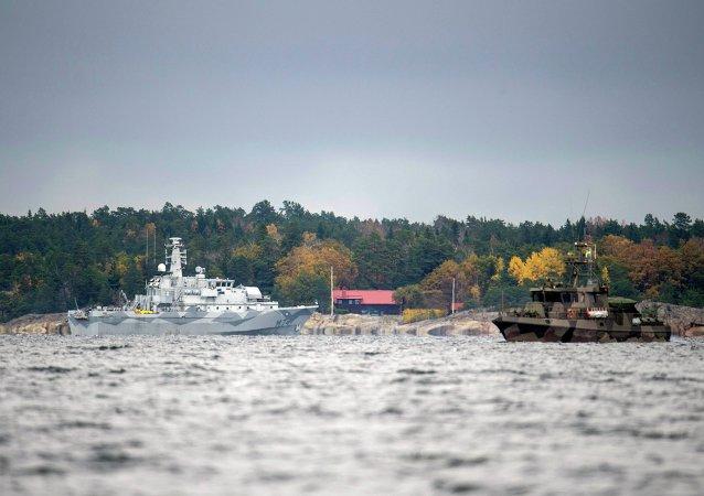 Operazione di ricerca nel Golfo di Stoccolma, ottobre 2014