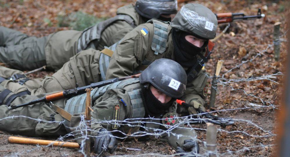 Soldati della Guardia Nazionale ucraina