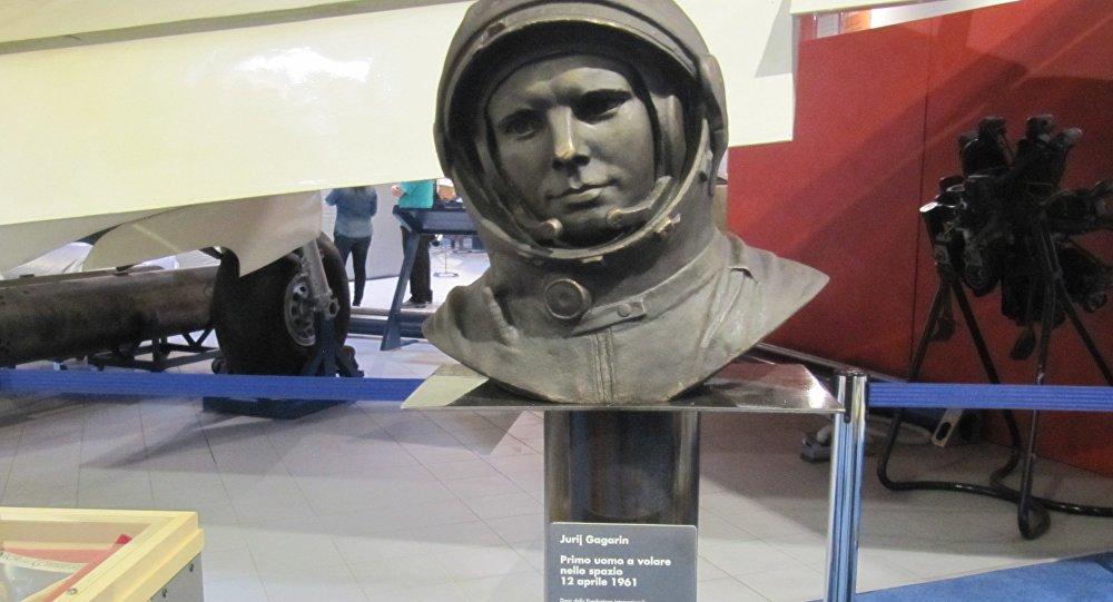 Busto di Jurij Gagarin, Museo dell'Aeronautica  di Trento