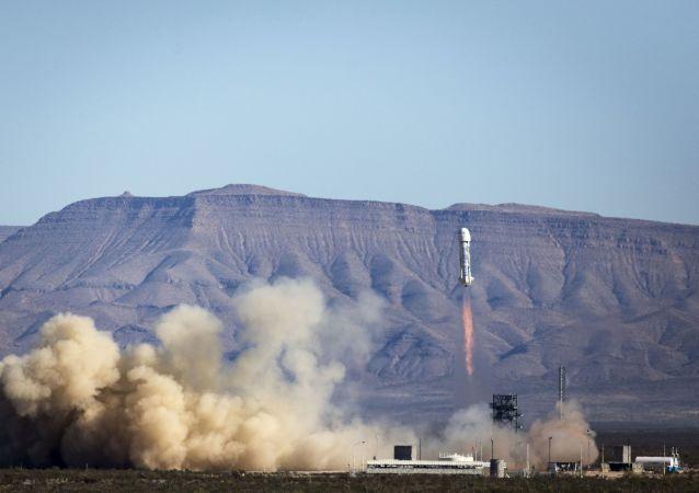 Test di New Shepard in Texas (foto d'archivio)