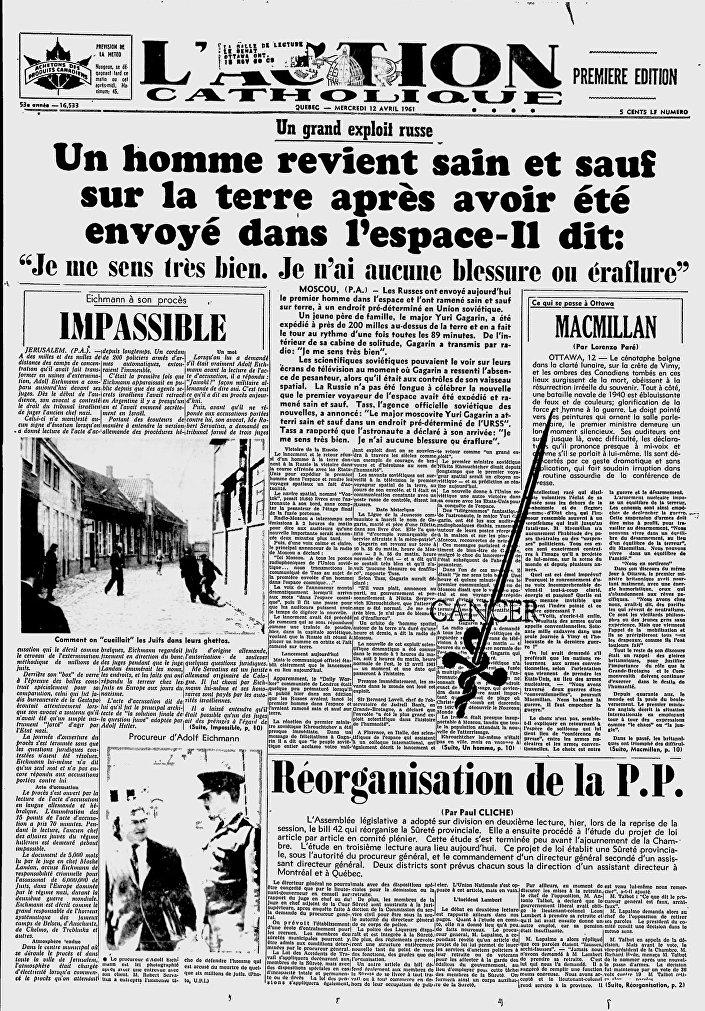 Giornale L'Action Catholique, Canada