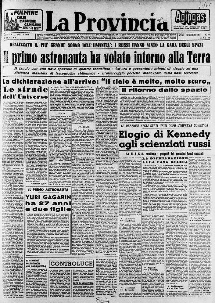 Giornale La Provincia, Italia