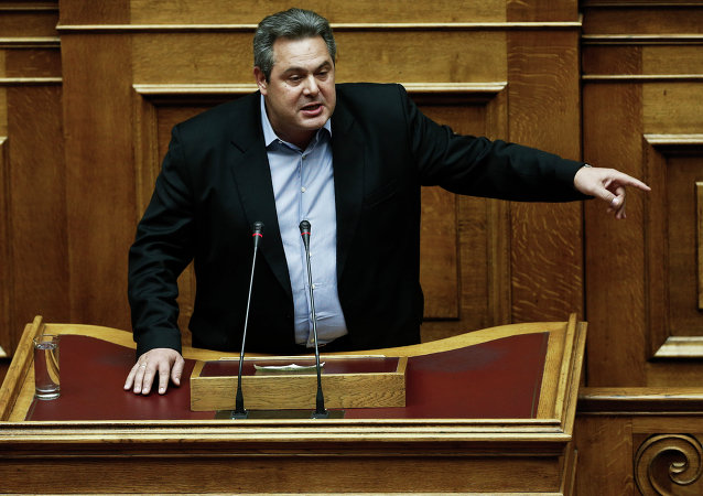 Ministro della Difesa greco Panos Kammenos