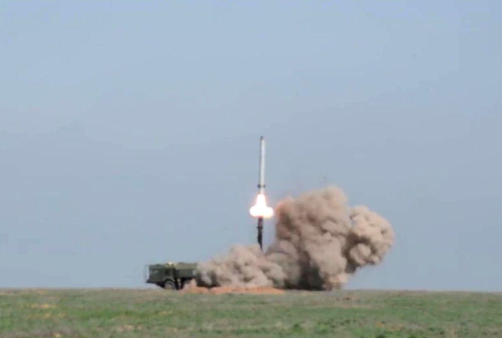 Lancio di un missile Iskander-M.