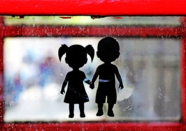 Children's silhouettes