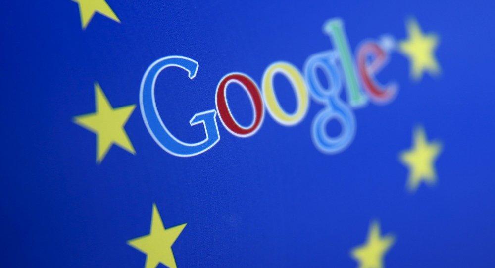 Logo di Google e l'Unione Europea