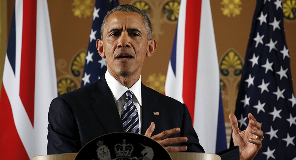 Barack Obama durante visita a Londra