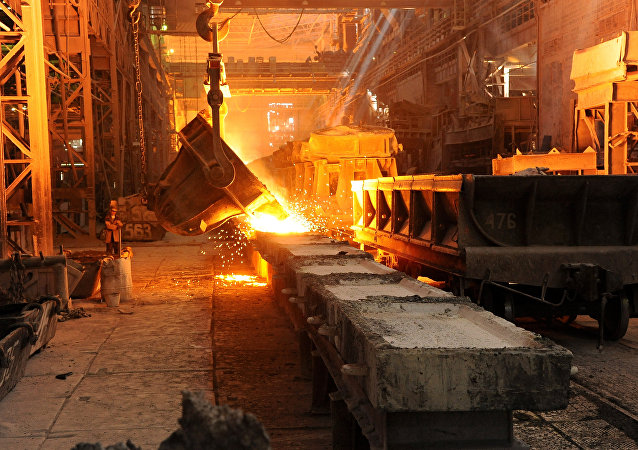 Impianto metallurgico (foto d'archivio)