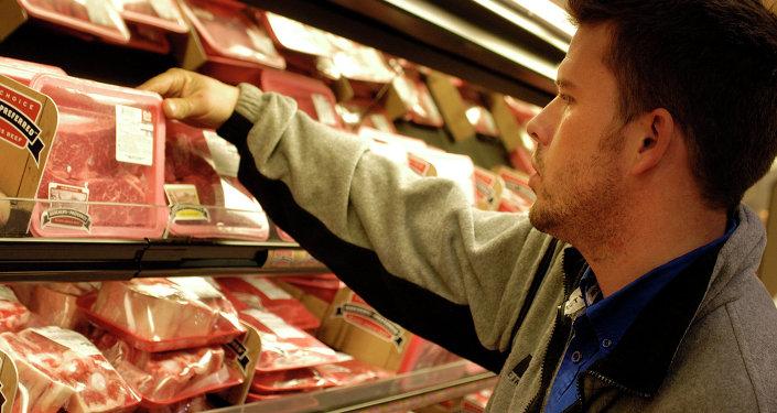 Cibo in un supermercato