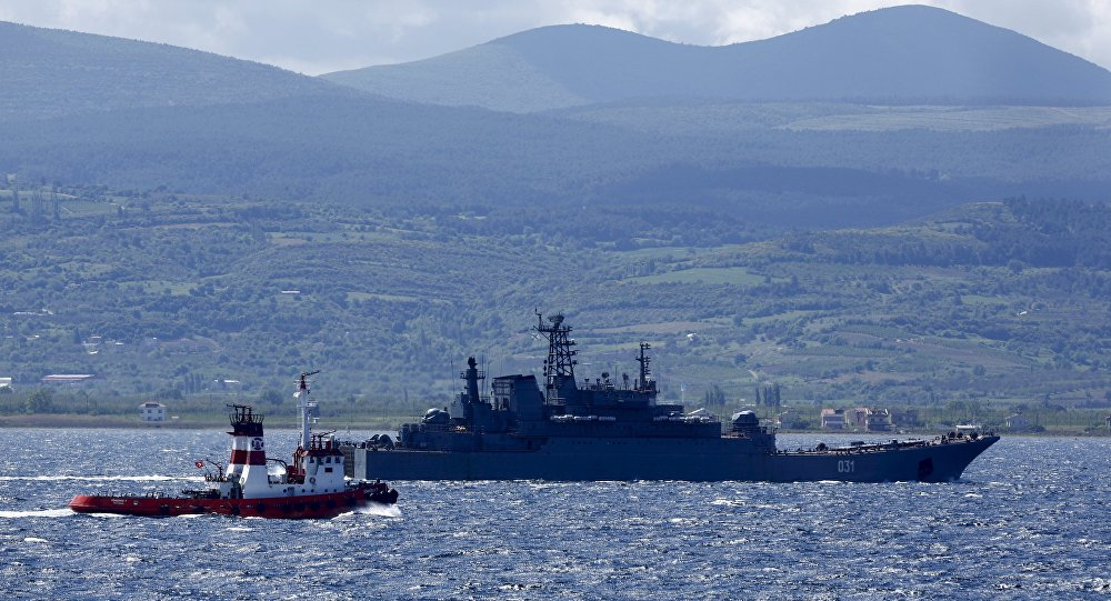 Navi militari russe nel Mediterraneo (foto d'archivio)