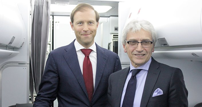 Denis Manturov e Nazario Cauceglia