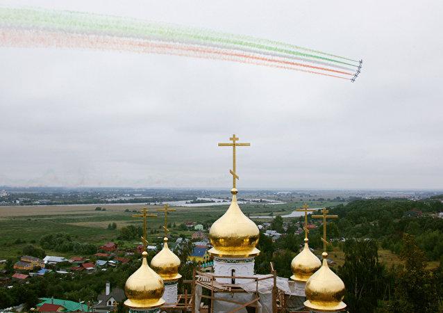 Le Frecce Tricolori nel cielo di Zhukovskiy