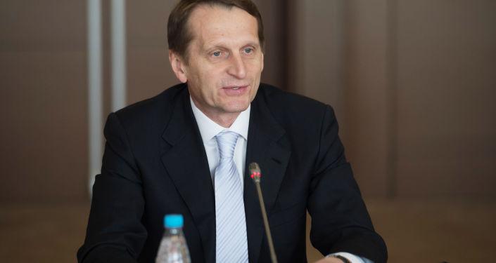 Presidente della Duma russa Sergey Naryshkin