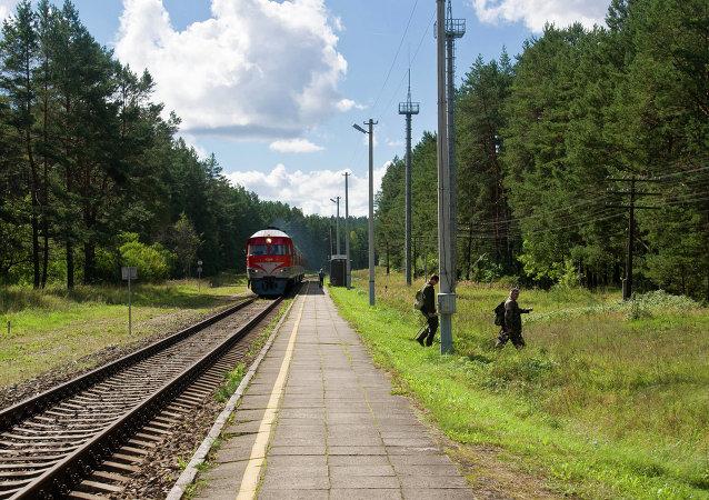 Un treno in Lituania