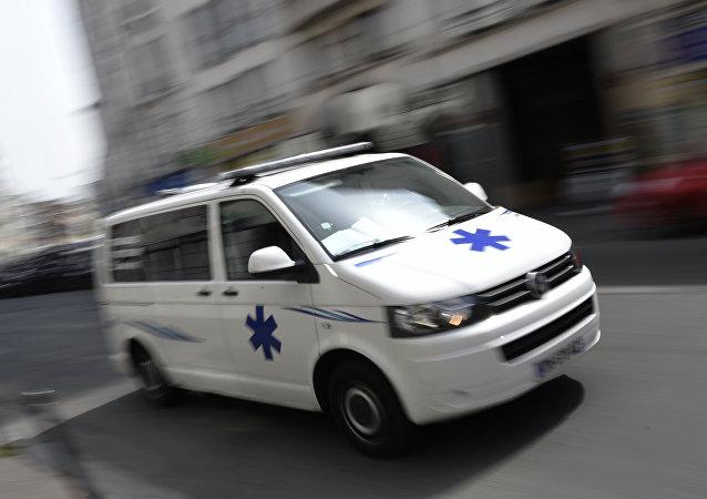 Un'ambulanza a Parigi