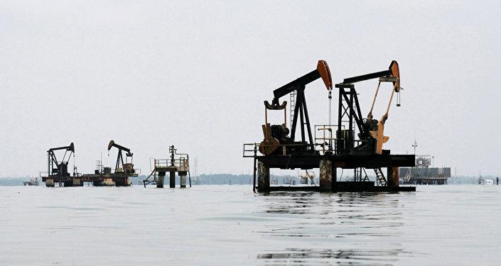 Una trivella petrolifera in Venezuela