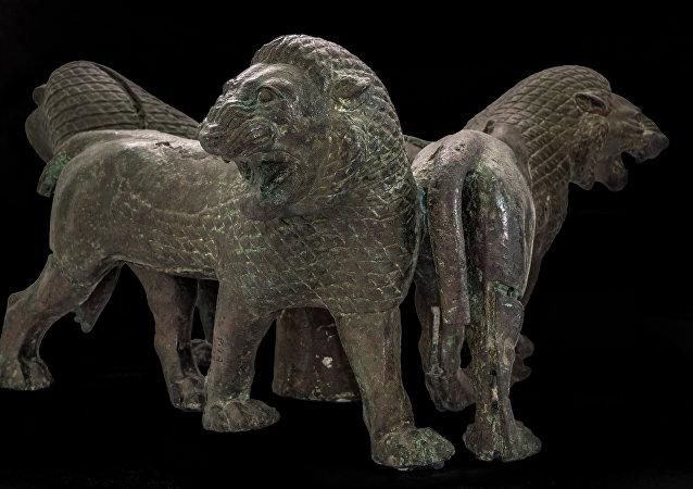 """Un'opera dalla mostra """"Leoni e tori dall'Antica Persia ad Aquileia"""""""