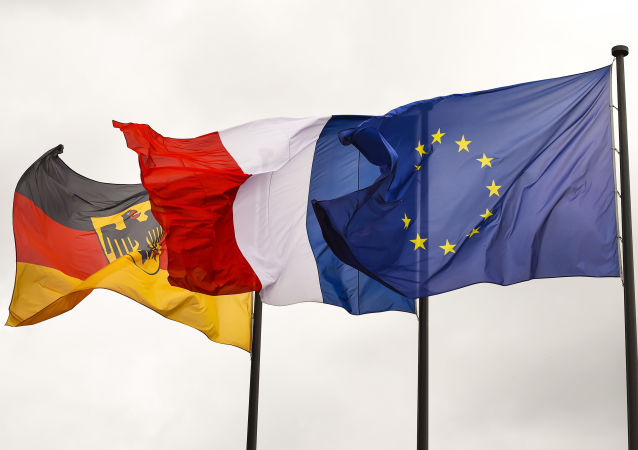 Bandiere di Germania, Francia e UE