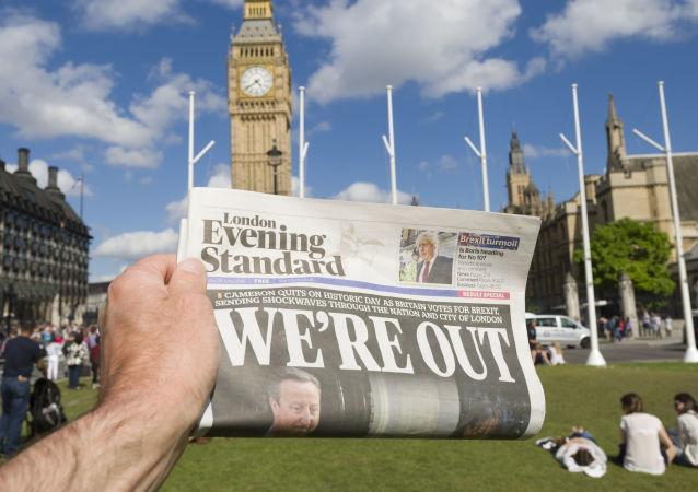 Giornale dopo il voto per la Brexit