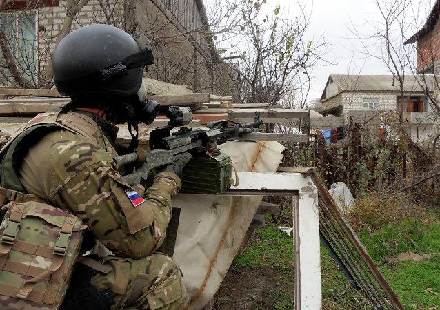 Forze speciali russe antiterrorismo in Daghestan