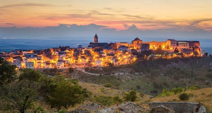 Una vista di Minervino Murge, Italia