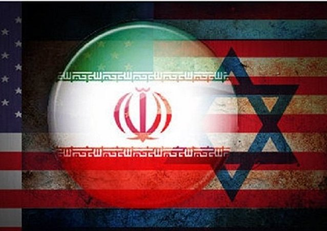 Collage con bandiere di USA-Israele-Iran