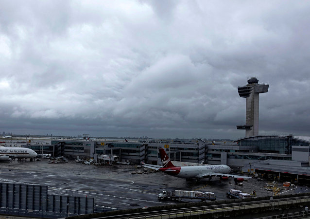 Una vista dell'aeroporto JFK a New York
