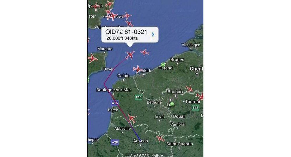Boeing C-135 flight