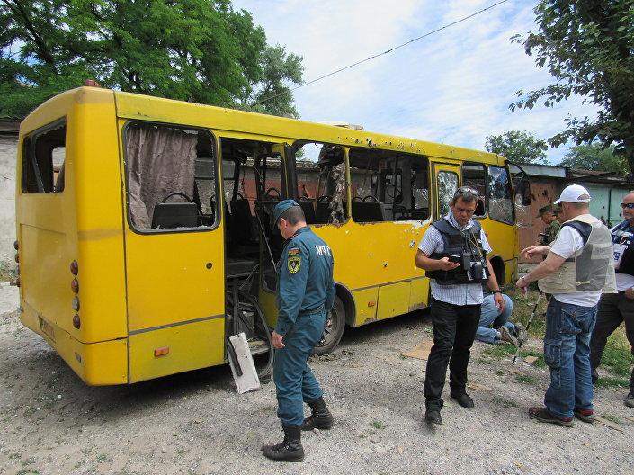 Dopo bombardamenti a Donetsk
