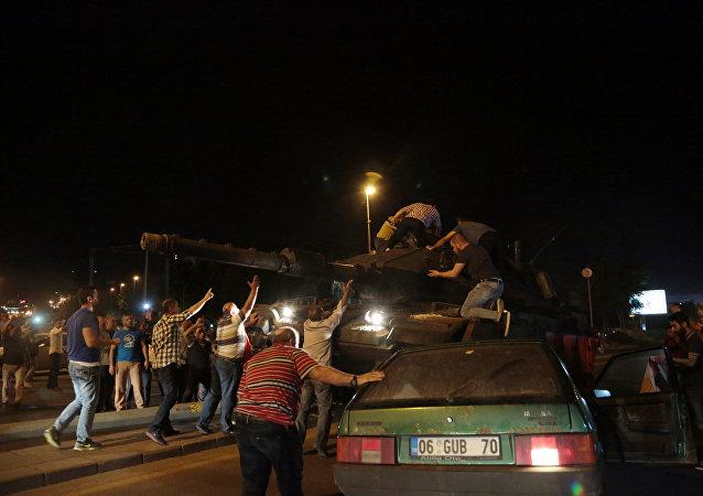 Un momento degli scontri in Turchia