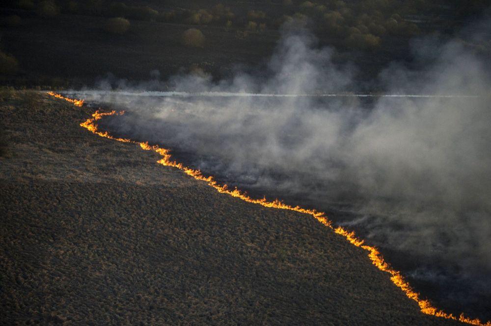 Incendio in Ucraina
