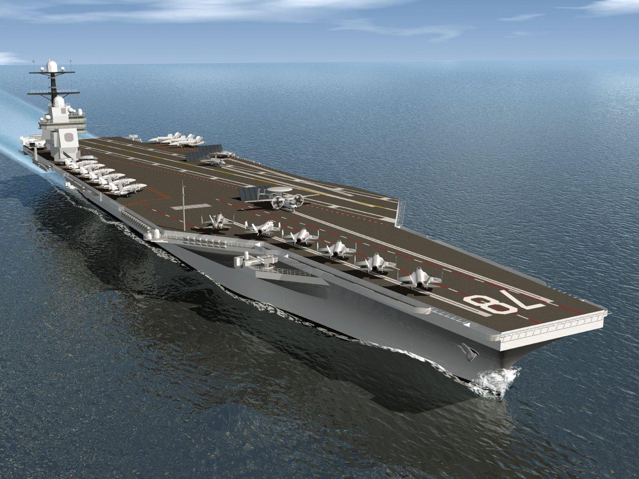 Modello portaerei Gerald R. Ford