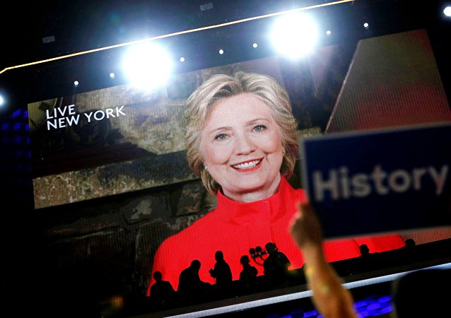 Hillary Clinton alla convention dei Democratici