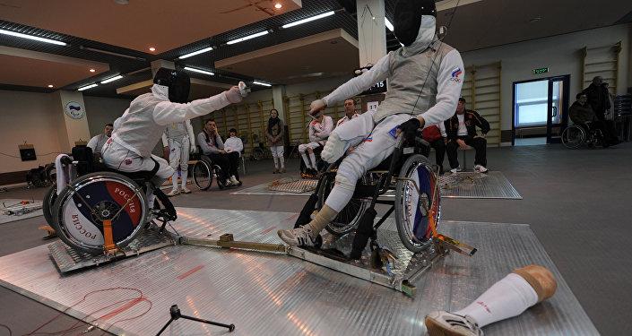 Atleti paralimpici russi in allenamento