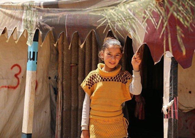 Un campo di profughi libanesi