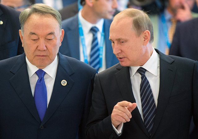 Nursultan Nazarbayev e Vladimir Putin