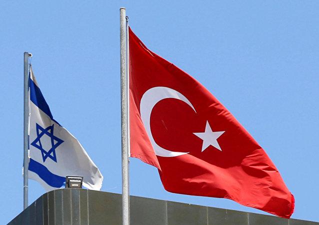 Bandiere della Turchia e d'Israele