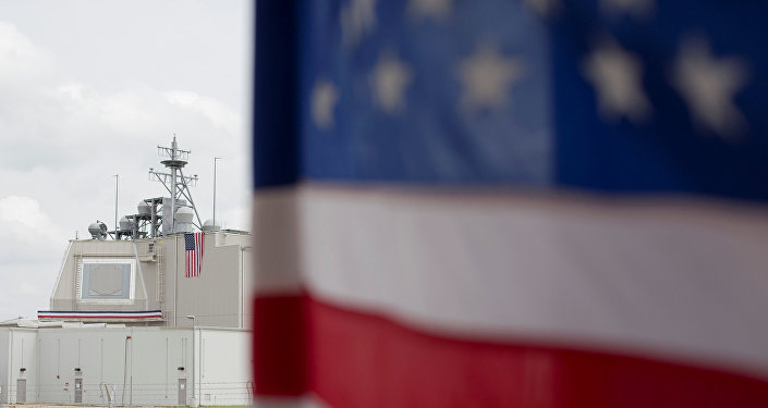 Bandiera USA nella base romena di Deveselu