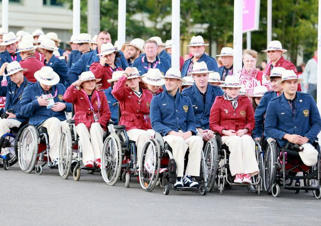 La nazionale paralimpica russa a Londra